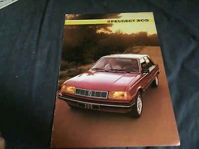 1985 Peugeot 305 Color Sales Brochure Prospekt