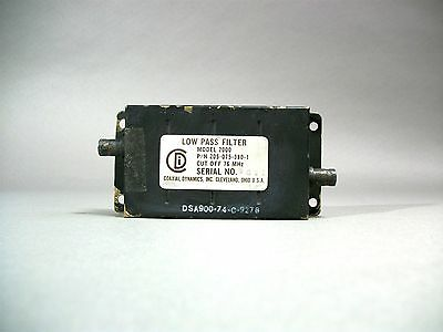 Coaxial Dynamics Inc Model 2000 Low Pass Filter 76mhz Bnc Free Shipping - Used