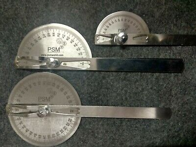 Goniometer Set Of 3 Pcs Medical Spinal Ruler Stainless Steel New Free Shipping
