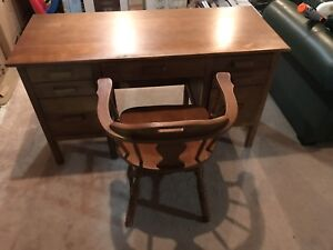 Student desk and chair circa 1950's