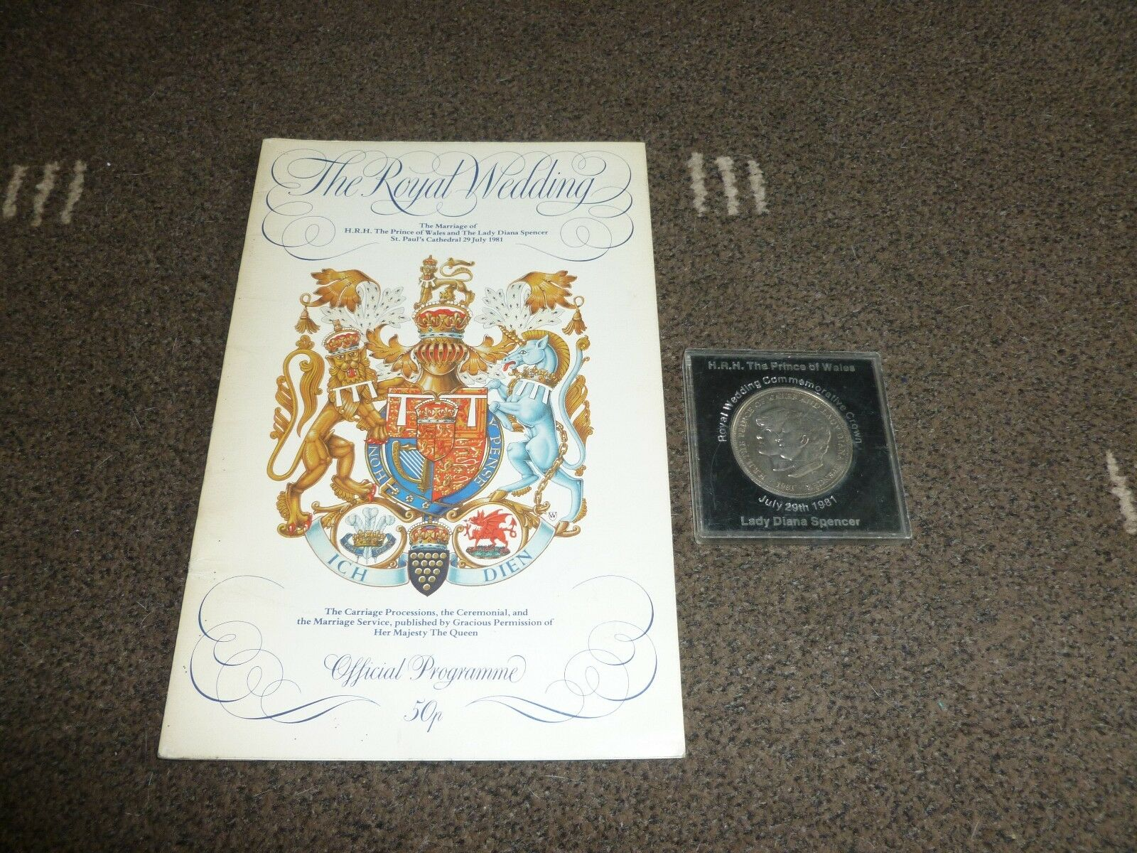The Royal Wedding 1981, Prince Of Wales and Lady Diana Spencer, Official Programme