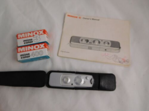 Minox C Spy Subminiature Spy Camera w/ Leather Case - Film Canister - Complan