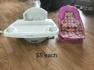 High chair seat and bath seat