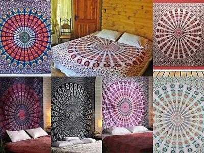 Hippie indische Mandala Wandteppich Tagesdecke Wand hängen Wohnheim Dekor werfen (Hippie Decke Werfen)
