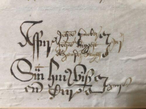 🔥 RARE Antique Medieval European Papal Decree Latin Illuminated Manuscript