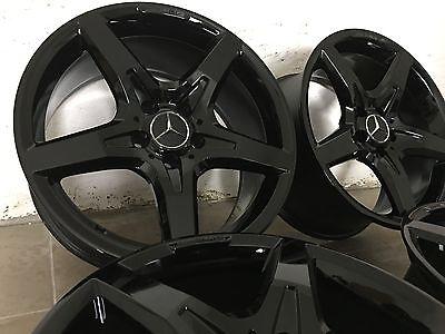 4 orig. AMG Felgen Schwarz 7,5 + 8,5 x 18 Mercedes SLK SLC R172 R171 W204 C W207