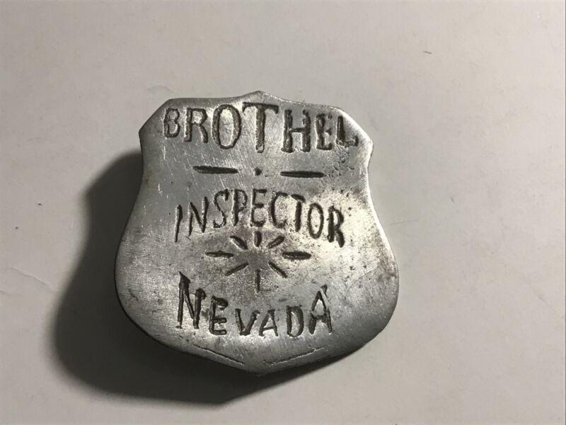 """Humorous SOUVENIR """"Fantasy Piece"""" BROTHEL INSPECTOR NEVADA Badge"""