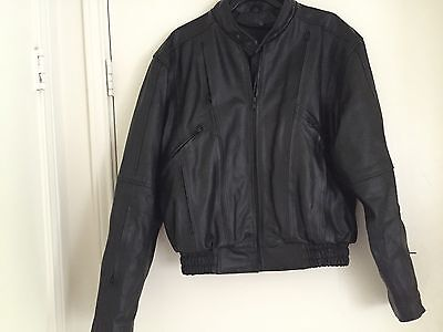Men's Mossi Tour Vent Genuine Leather Motorcycle Jacket In Black  NEW  - Leather Vented Touring Jacket