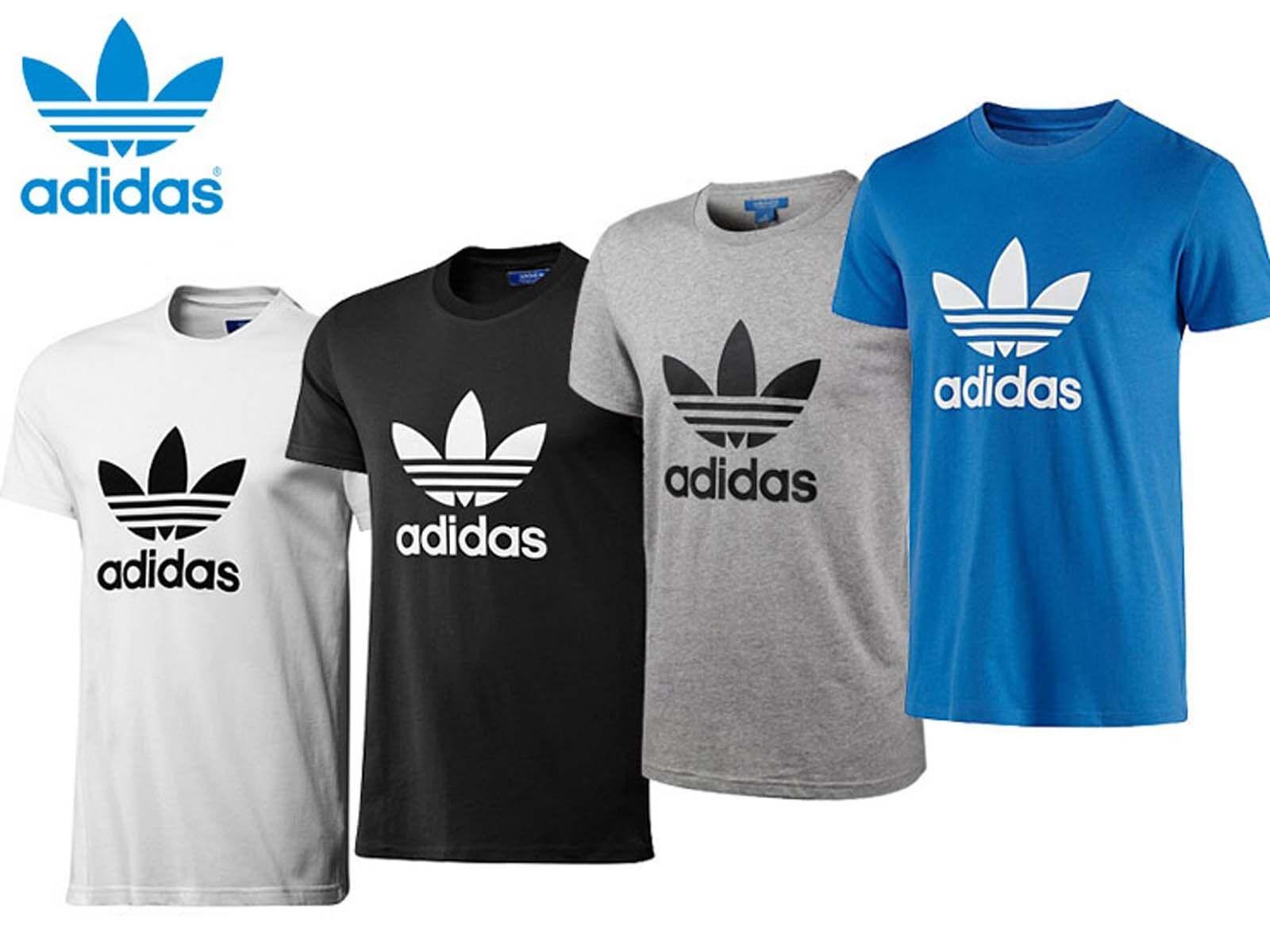 adidas originals t shirt crew neck trefoil cotton tee top. Black Bedroom Furniture Sets. Home Design Ideas