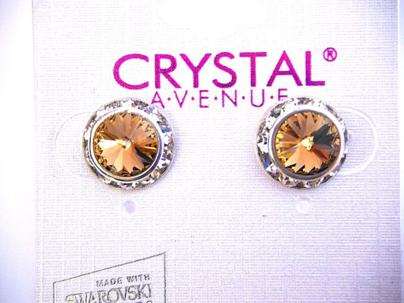 Gold crystal earrings dance moms Ballroom competition perfomance swarovski kids
