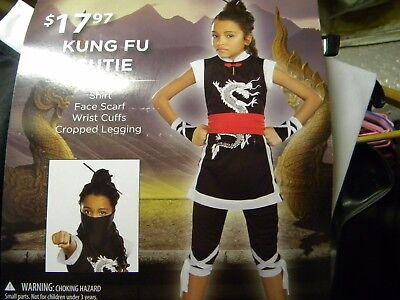 KUNG FU CUTIE Halloween GIrls Costume Large 10-12 - Kung Fu Halloween