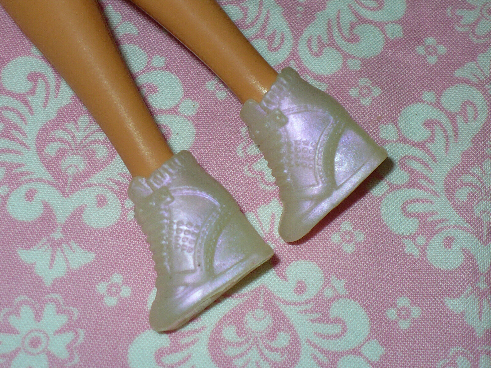 Mattel Barbie Doll Shoes FASHIONISTAS Fashion Fever OPALESCENT WEDGE SNEAKERS - $15.99
