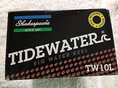 Shakespeare Tidewater Big Water Reel Tw10l  New Old Stock  Nib With Papers