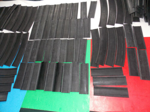 Johnson Black Rubber Track Roadbed 027-95 ST Straights 072 Curves Large Lot