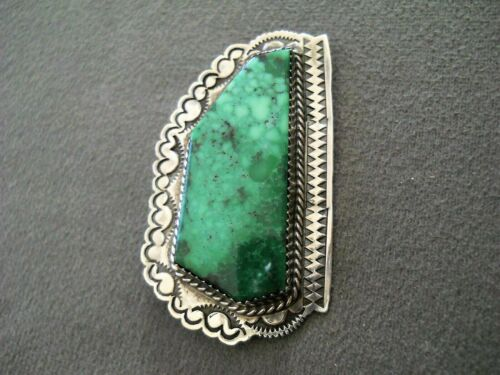 Unique SILVER CLOUD CO. Southwestern Turquoise Sterling Silver Stamped Pendant
