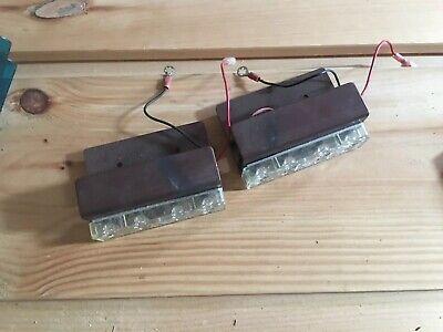 Set 2x Code 3 Lightbar Excalibur Mx7000 2100 Flashing Blue Led Modulebracket