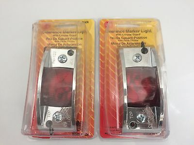 """4.75""""x 2"""" Inch Red Rectangle Clearance Side Marker Light Trailer Tractor Truck 0"""
