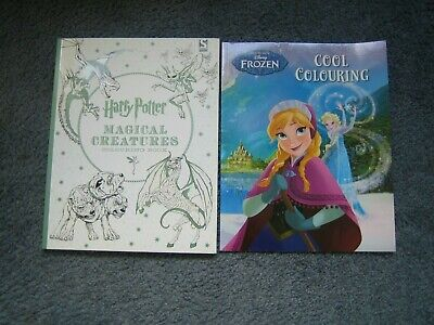Harry Potter Magical Creatures  and Frozen  Cool Colouring book bundle