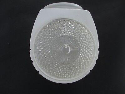 "Vtg.DECO old GLASS SHADE 3"" fitter LAMP LIGHTING PARTS bath Room / Fixture desk"