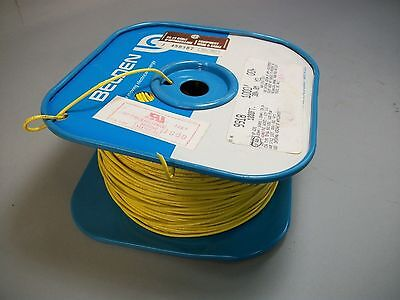 Belden 9918 Tinned Copper Cable Wire 18 Awg Yellow Color 900 Feet - New
