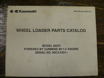 Kawasaki 90ziv Wheel Loader Cummins M11-c Diesel Engine Parts Manual