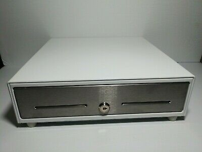 Mmf Val-uline Pos Cash Drawer 13 X 13 X 3.5 White Stainless Steel 4 Bill 5 Coin
