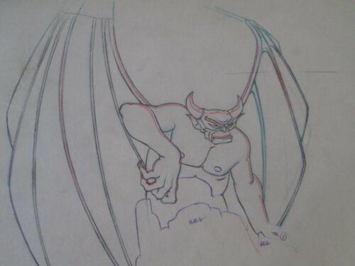 Fantasia Chernabog Night on Bald Mountain Disney Drawing 1940  2 Drawings