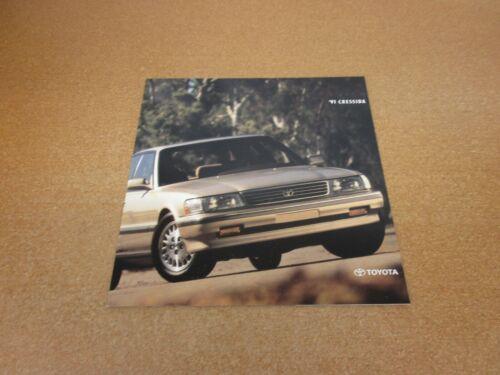 1991 Toyota Cressida sales brochure 12 page dealer literature ORIGINAL