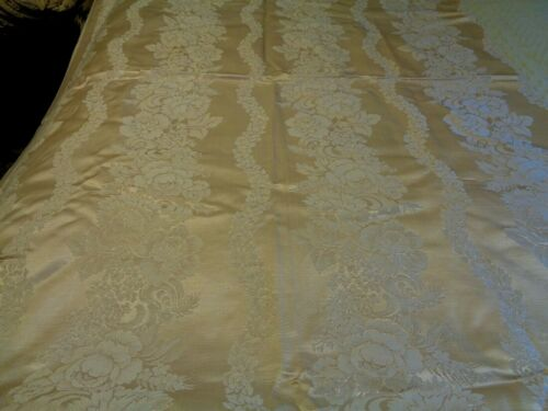 Pinkish Colored Damask Large Tablecloth 88 x 102