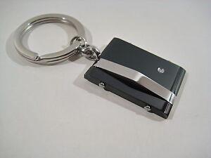 Portachiavi-acciaio-inox-e-acciaio-massiccio-brunito-con-zircone-Idea-Regalo
