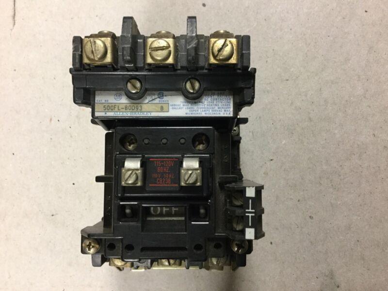 Allen Bradley 500FL-BOD93 Lighting Contactor