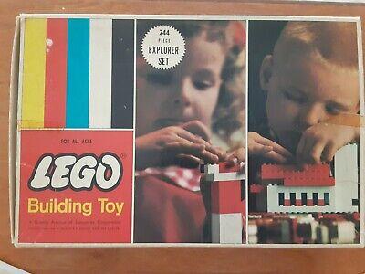 VINTAGE 1963 LEGO EXPLORER BUILDING BLOCK SET # 244 & ORIGINAL BOX