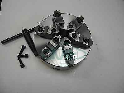 8 6-jaw Self-centering Lathe Chuck W. Topbottom Jaws--0.003 Tir---new