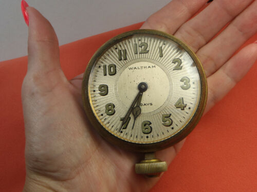 WALTHAM 8 Day Car Clock 1922 William Casper Captain W.C. Tyrrell Oil Tycoon