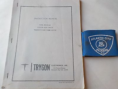 Trygon Rs160-1a Silicon Rack Series Power Supply Instruction Manual