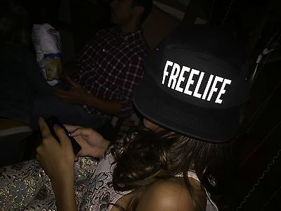 Free Life Reflective Flash Print 5 Panel Cycling Hat Freelife EDM Not Bixelboys - Flash Hat