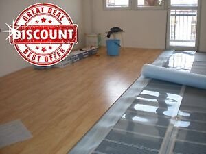 Infrared Carbon Under Laminate Floor Heating System 86 96 Sq Ft 8
