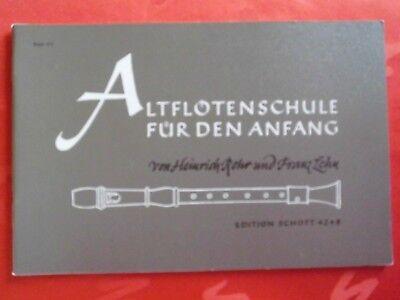 Altflöten Schule für den Anfang Schott ED 4248 Rohr/Lehn Lernheft