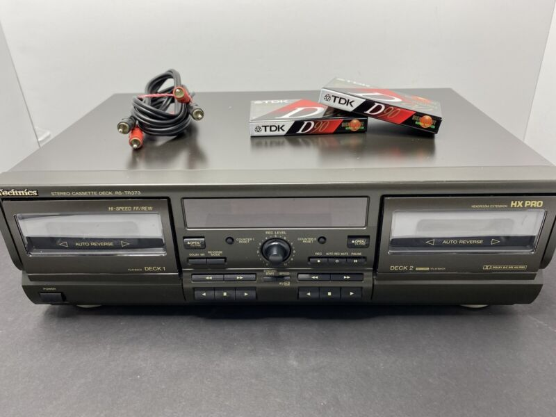 Technics RS-TR373 Dolby HX PRO Dual Cassette Deck Player Recorder TESTED