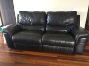 Leather couch  Banora Point Tweed Heads Area Preview