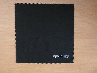 Microfaser Brillenputztuch von  APOLLO, schwarz, NEU