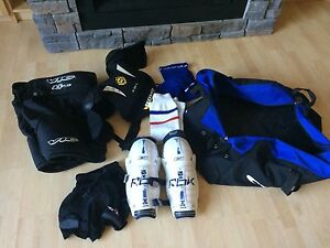 Hockey bag and equipment for kids