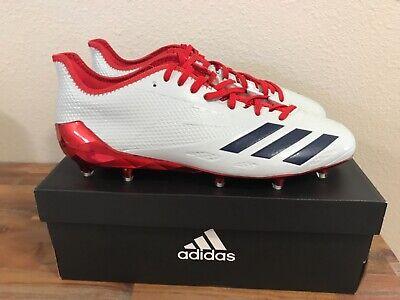 Adidas Adizero 5-Star 6.0 Football Cleats Light Gray/Navy/Red BW1438 Men Sz 12