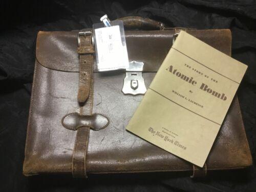 Manhattan Project Purchasing, Atomic Bomb, Los Alamos, Leather Briefcase, Bonus!