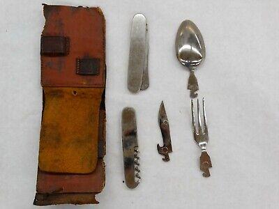 Vintage H Boker & Co.Fork Spoon Knife Outdoor Travel Hiking Camping Utensil Kit