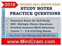 REAL ESTATE LICENSE OREA EXAM TUTOR - STUDY NOTES & QUESTIONS
