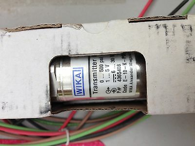 Wika E-10 0-500 1-5v Transmitter