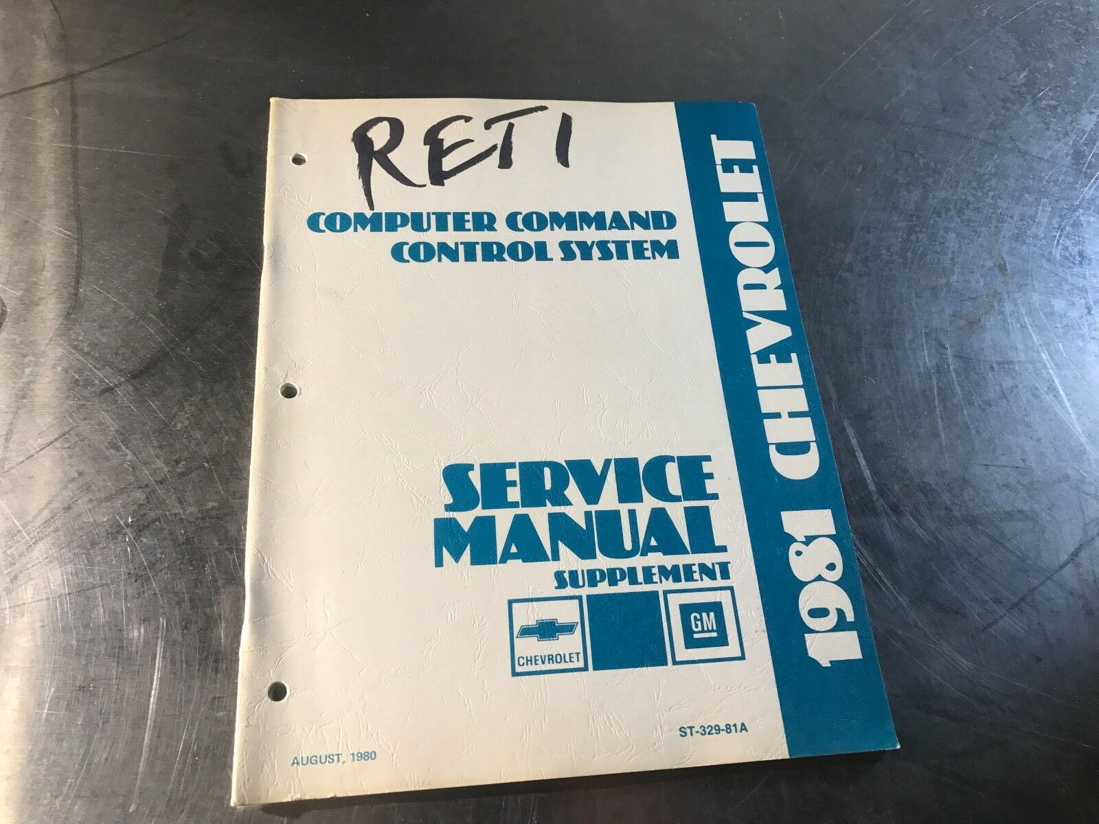 Chevrolet 1981 Computer Command Control Original Shop Service Manual Supplemen