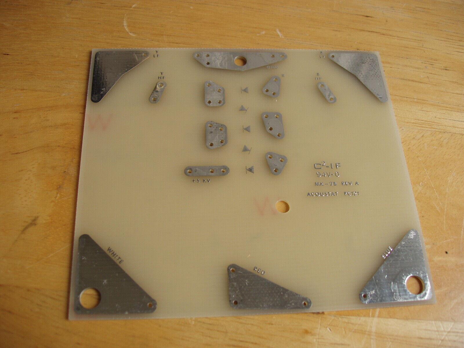 ACOUSTAT PC121 NOS BLANK Circuit Board - MK121 Interface (MK-2B REV. A)