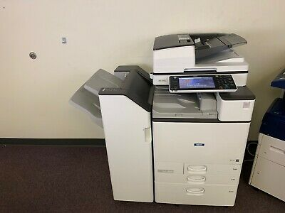 Ricoh Mp C4503 Color Copier Machine Network Print Scanner Fax Finisher